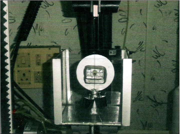 Figure 7: Experiment conducted using Instron universal testing machine
